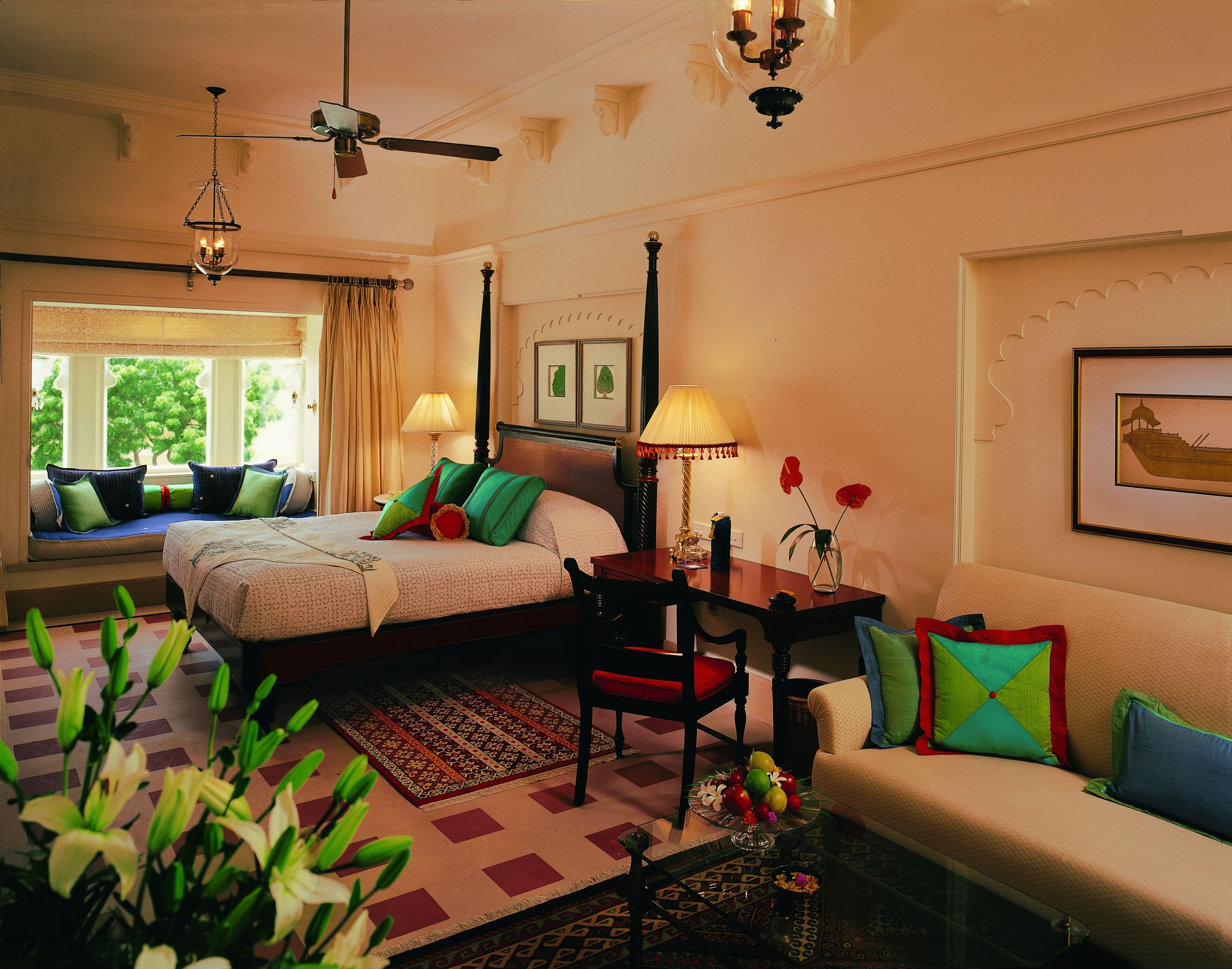 Luxurious honeymoon destination Udaivilâs Oberoi Hotel. Udaipur.