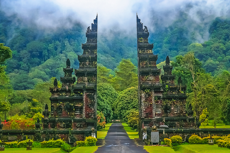 Hindu temple in Bali in Indonesia