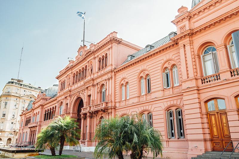 Casa Rosada, presidential Palace in Buenos Aires, Argentina