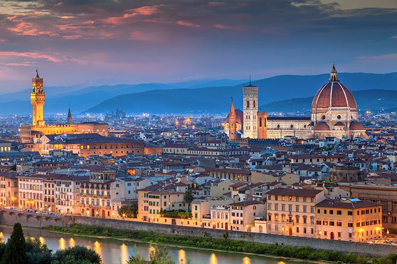佛罗伦萨日出城景