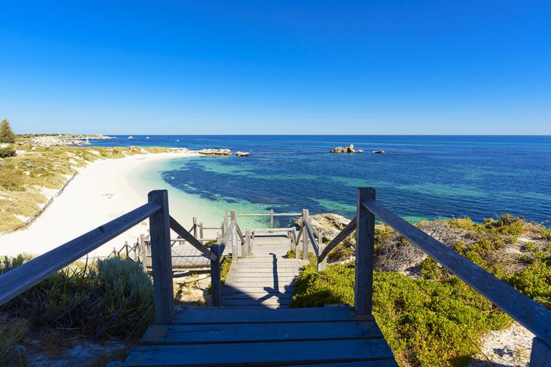 澳大利亚珀斯罗特尼斯岛海滩