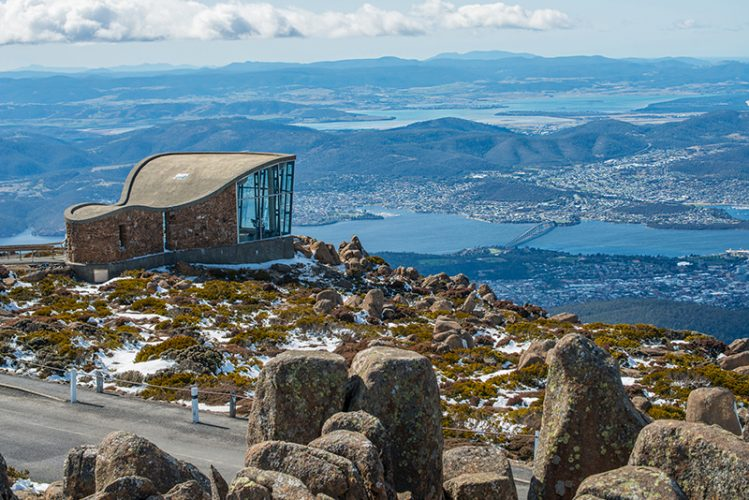 Feng shui view from Mt.Wellington, Hobart, Tasmania, Australia.