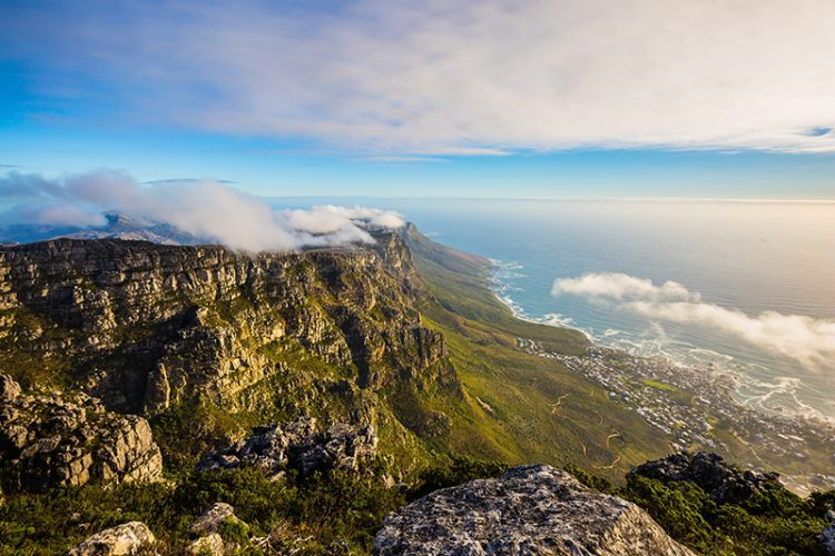 feng shui view of Table Mountain, Cape Town, South Africa