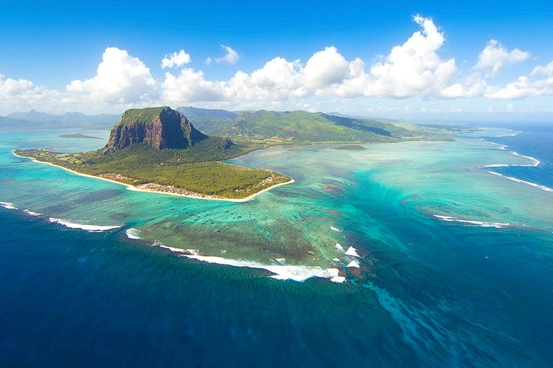 毛里求斯海景航拍