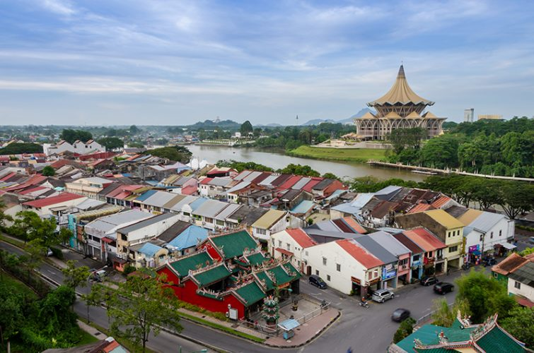 Aerial View At Kuching City