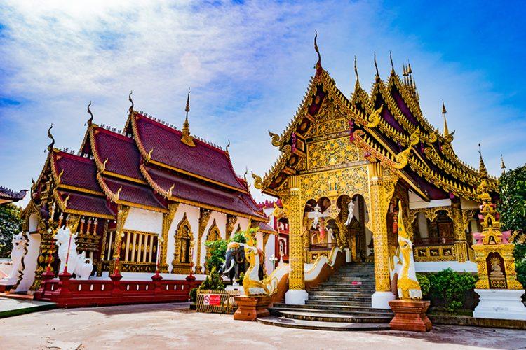Buddhist temple Chiang Mai, Thailand