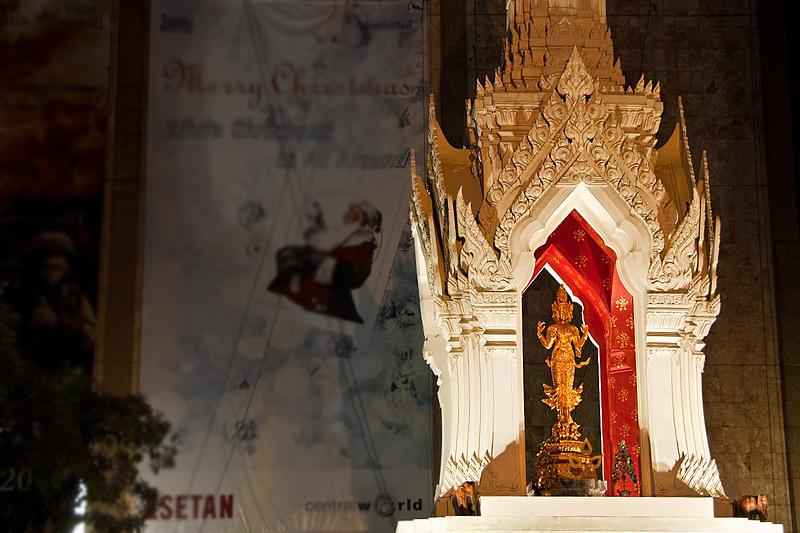 Pray for Love at Trimurti Shrine, Bangkok, Thailand